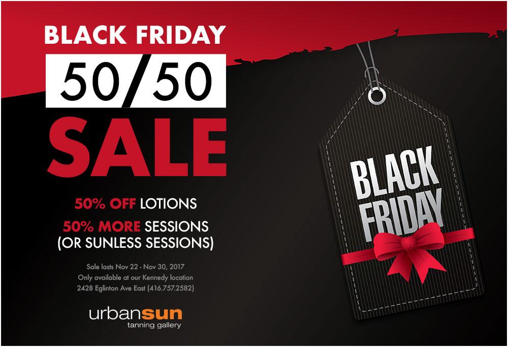 Black Friday 50/50 Sale